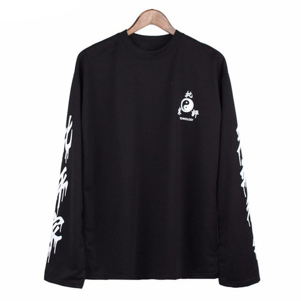 Harajuku Long Sleeve Women's Printed Shirt