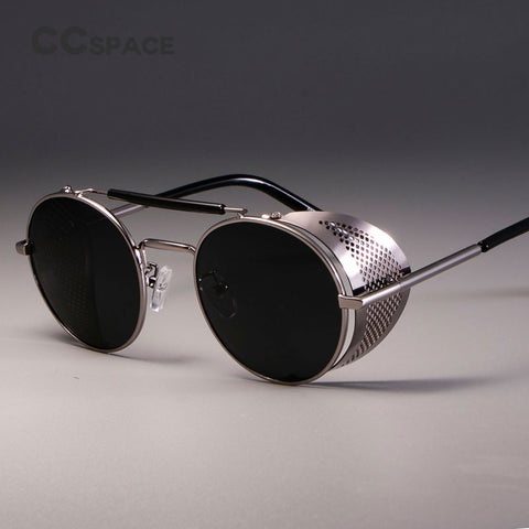 Retro Round Metal Sunglasses for Women's