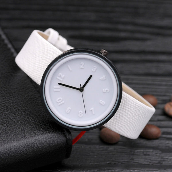 Candy color Unisex Simple Number watch