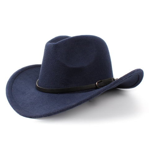 Wool Women's Men's Western Cowboy Hat For Gentleman
