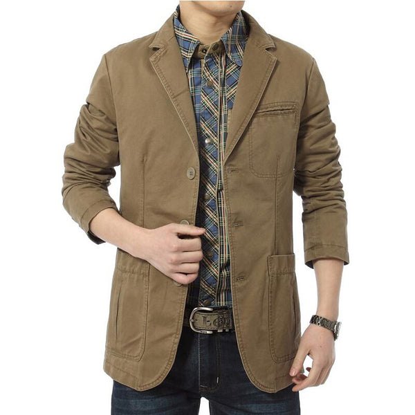 Cotton Denim Parka Men's slim fit Jackets