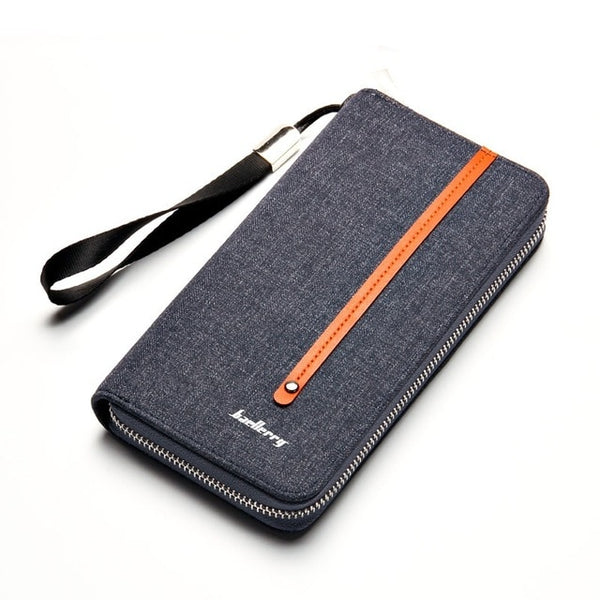 Vintage casual multi-card position Purses for men's