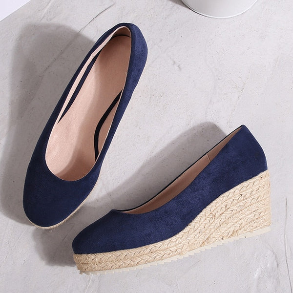 Women high heel wedges platform shoes