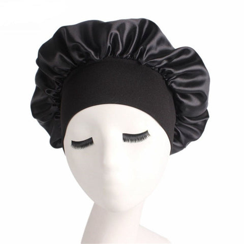Women's Wide Band Satin silk Bonnet Cap