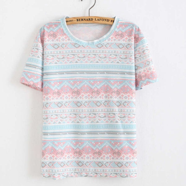 Korean style cotton loose slim tops for women's