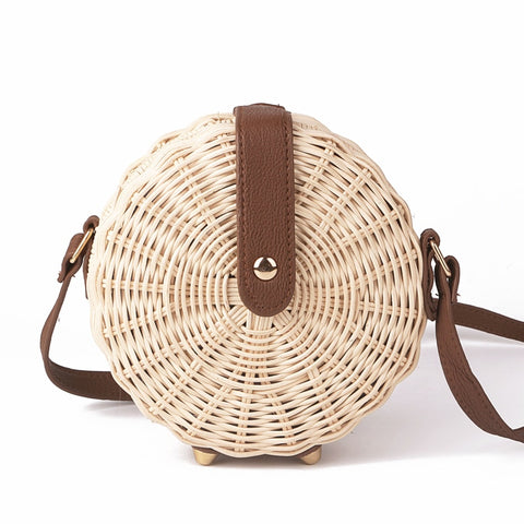 Bali Rattan Beach Handbag for Women's