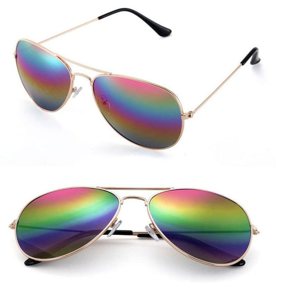 Mirror Lens Men UV Protection Pilot Sunglasses