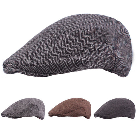 Men Classic Winter Warm Berets Driving Golf Cap