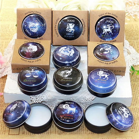 12 Signs Constellation Zodiac Magic Solid Deodorant Solid Fragrance For Women Men