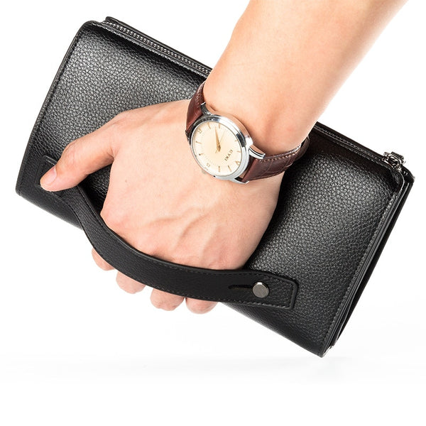 Long Zipper Coin Purse for Men
