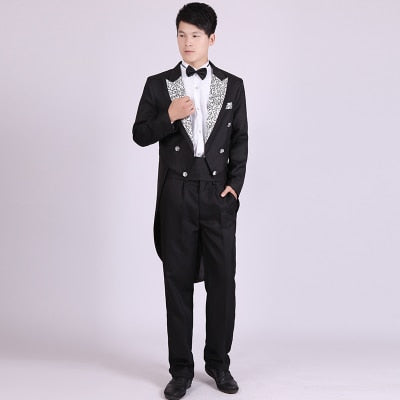 4 Piece (Jacket+Pants T+Bow Tie+Belt) Tailcoat Suits