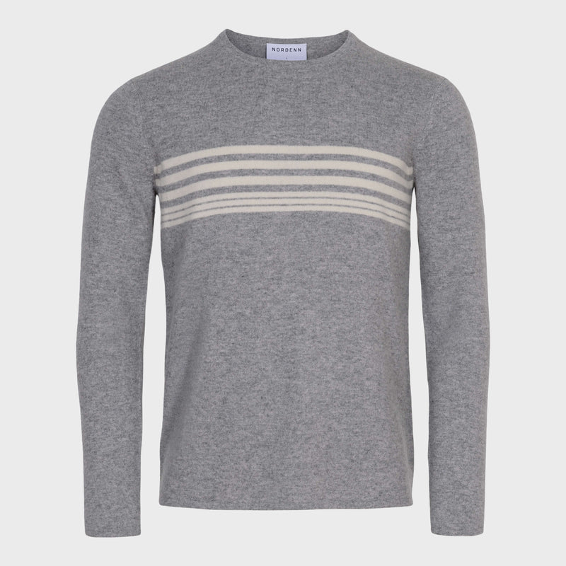The Cashmere Stripe Grey - NORDENN