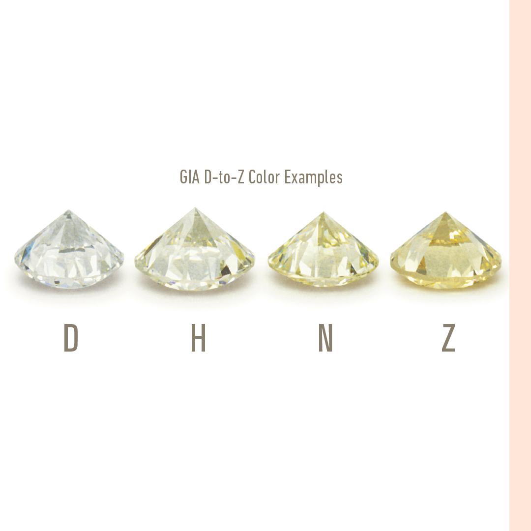 GIA certified Diamonds. Color Grading. Made for Love