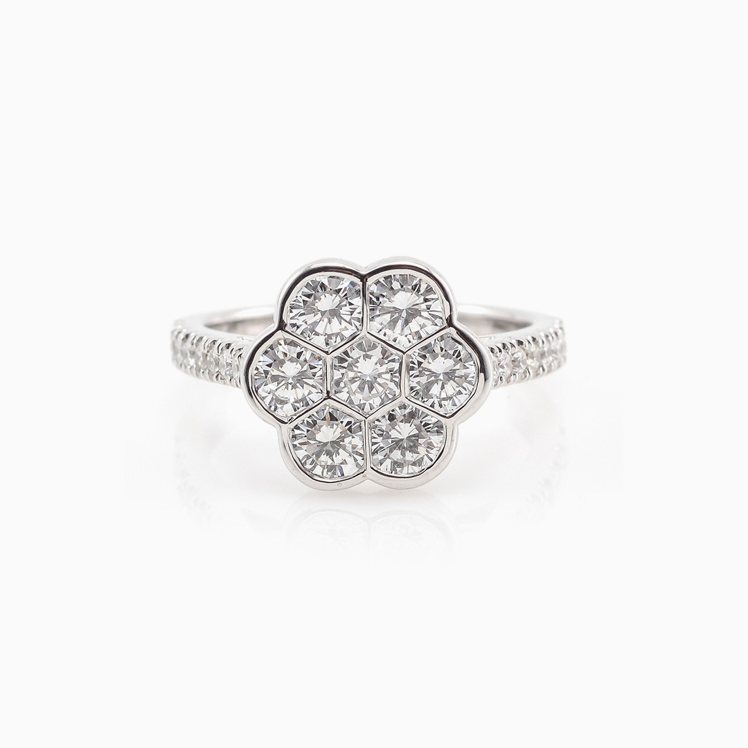 Diamond Cluster Engagement Rings by Made For Love Jewelry.