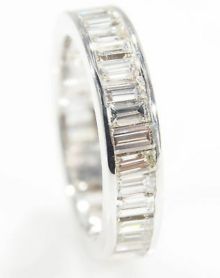 10K Diamond Eternity Band Ring White Gold