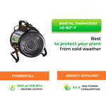 Palma Greenhouse Heater 110 V, incl. manual Thermostat