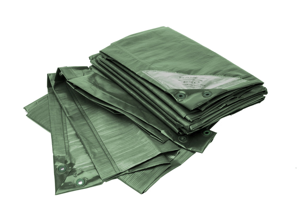 "Rainexo 90 GSM ""STRONG"" Green Tarp, Waterproof, UV-resistant, Frostproof"