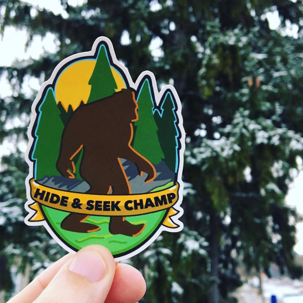 Hide & Seek Champ Sticker