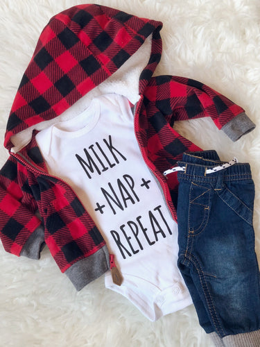 Milk Nap Repeat Onesie