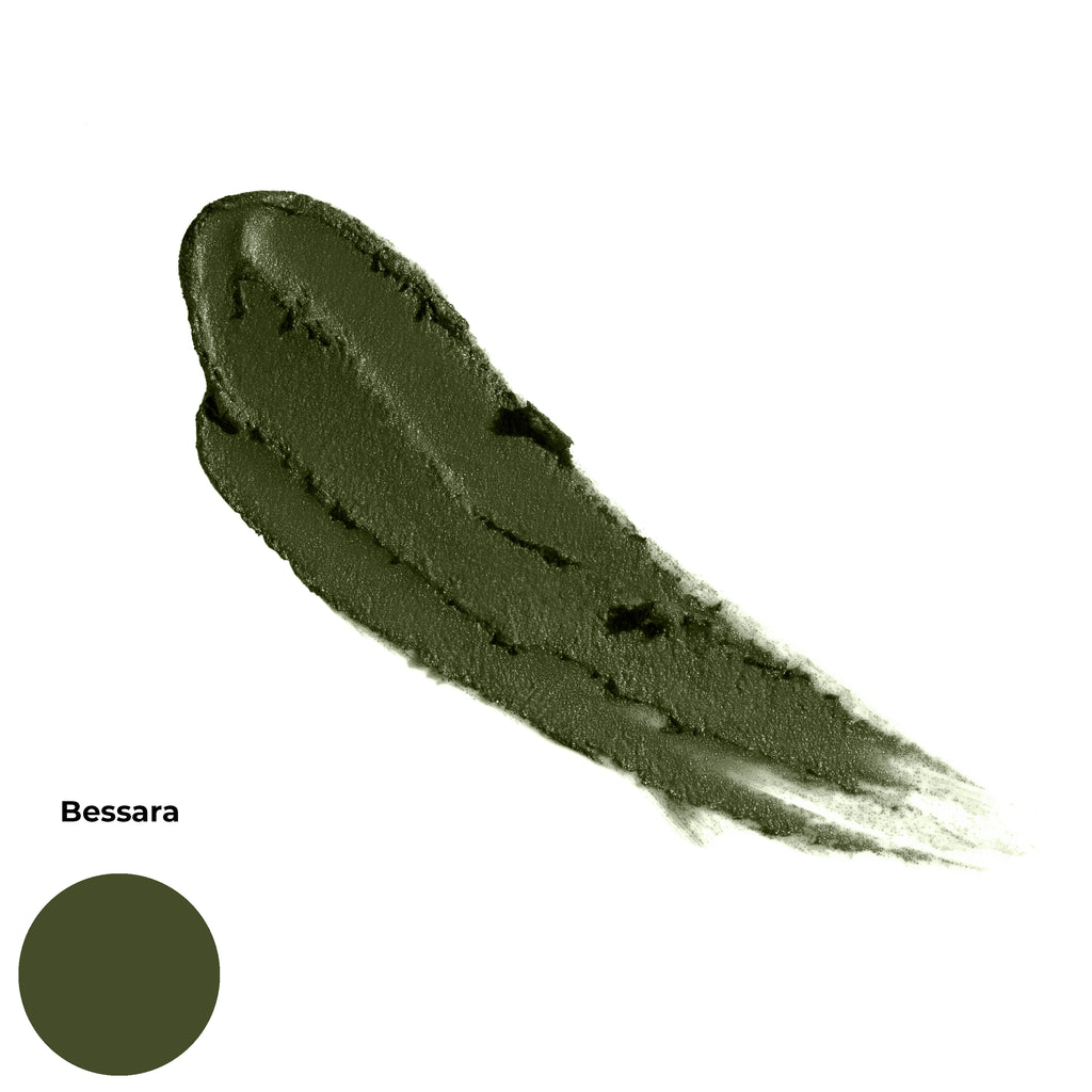 Bessara Deep Olive Matte Finish Cruelty Free Clean Beauty Gel Eyeshadow