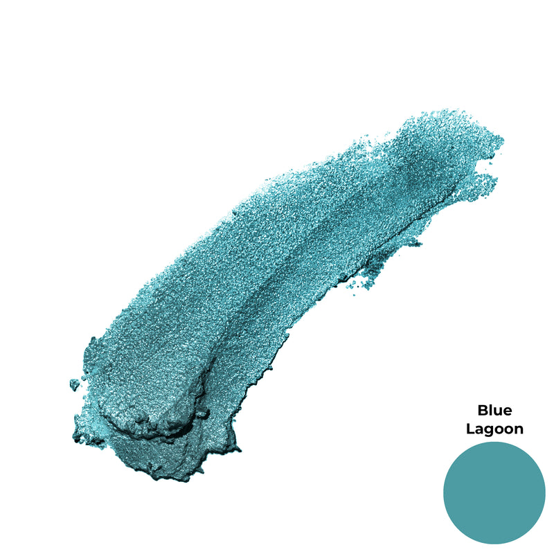 Blue Lagoon Teal Aqua Green Blue Shimmer Finish Cruelty Free Clean Beauty Gel Eyeshadow