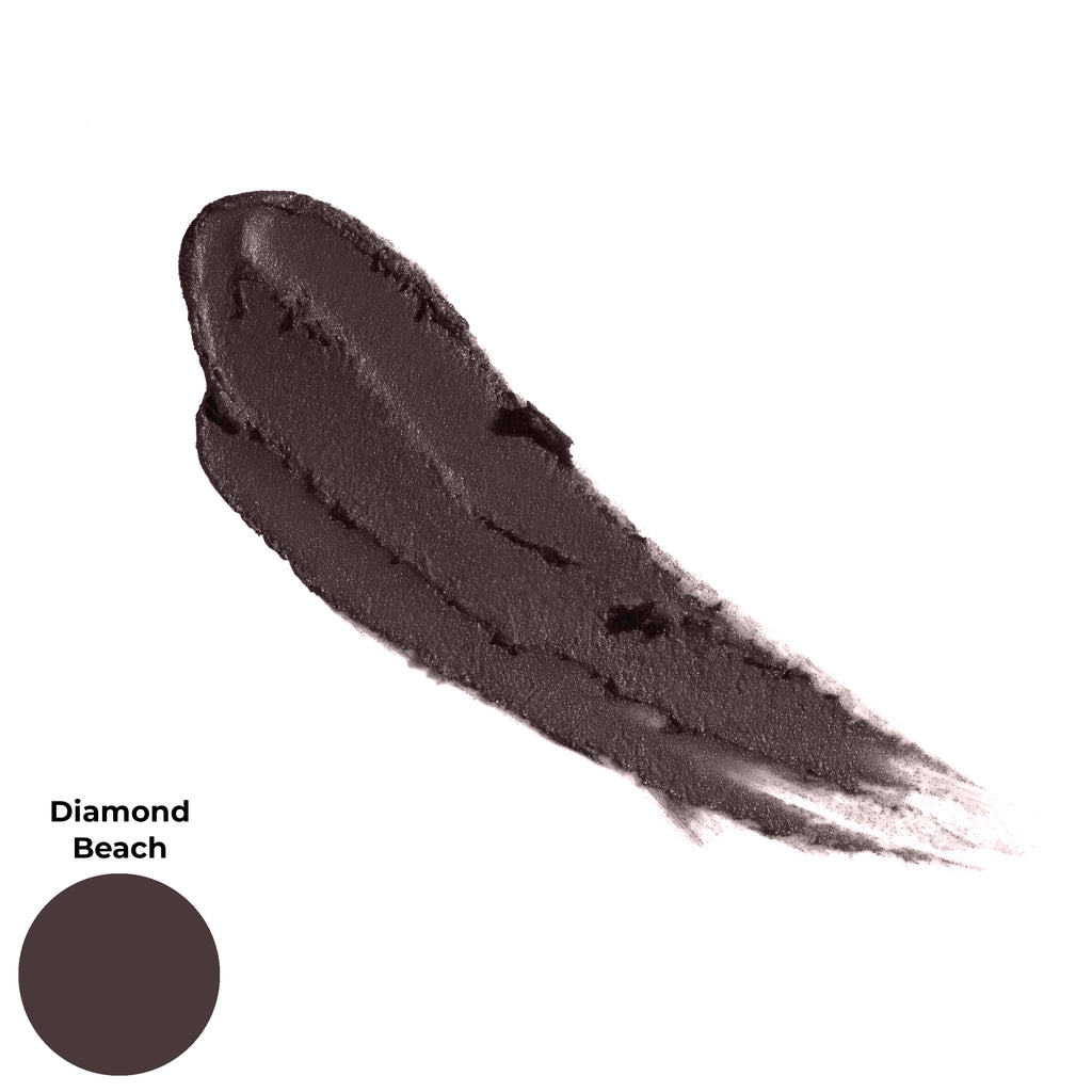 Diamond Beach Deep Brown Black Matte Finish Cruelty Free Clean Beauty Gel Eyeshadow