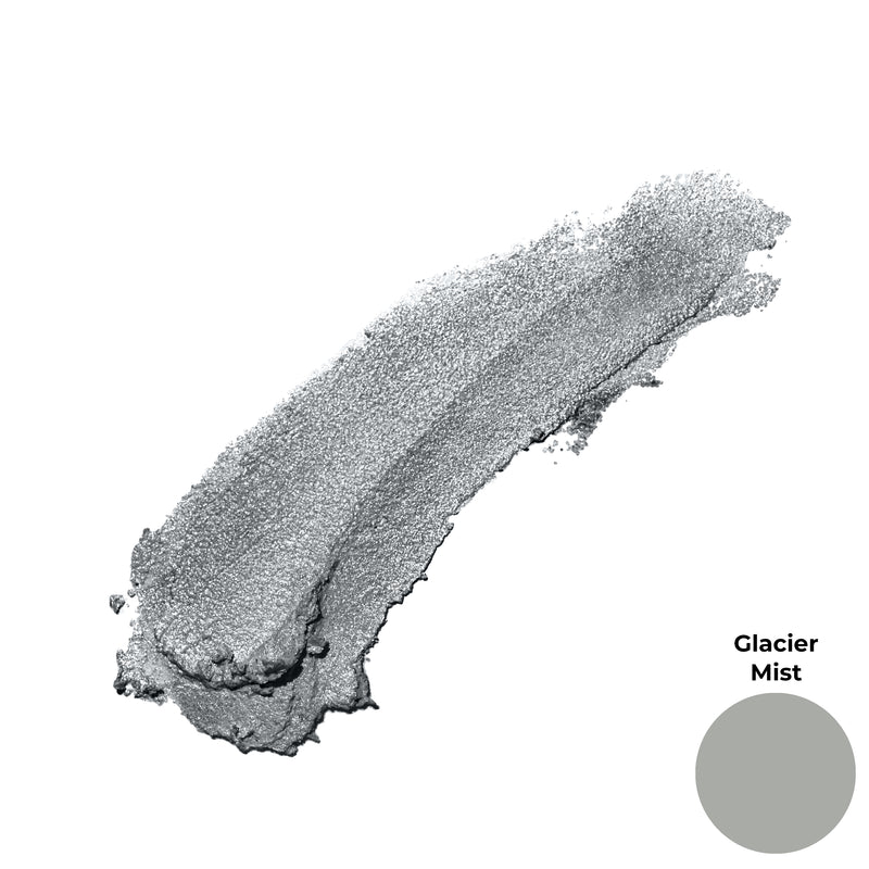 Glacier Mist Silver Gray Shimmer Finish Cruelty Free Clean Beauty Gel Eyeshadow