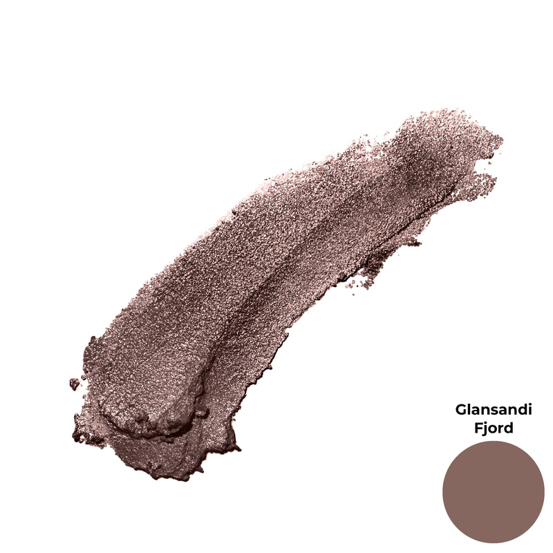Glansandi Fjord Cool Brown Shimmer Finish Cruelty Free Clean Beauty Gel Eyeshadow