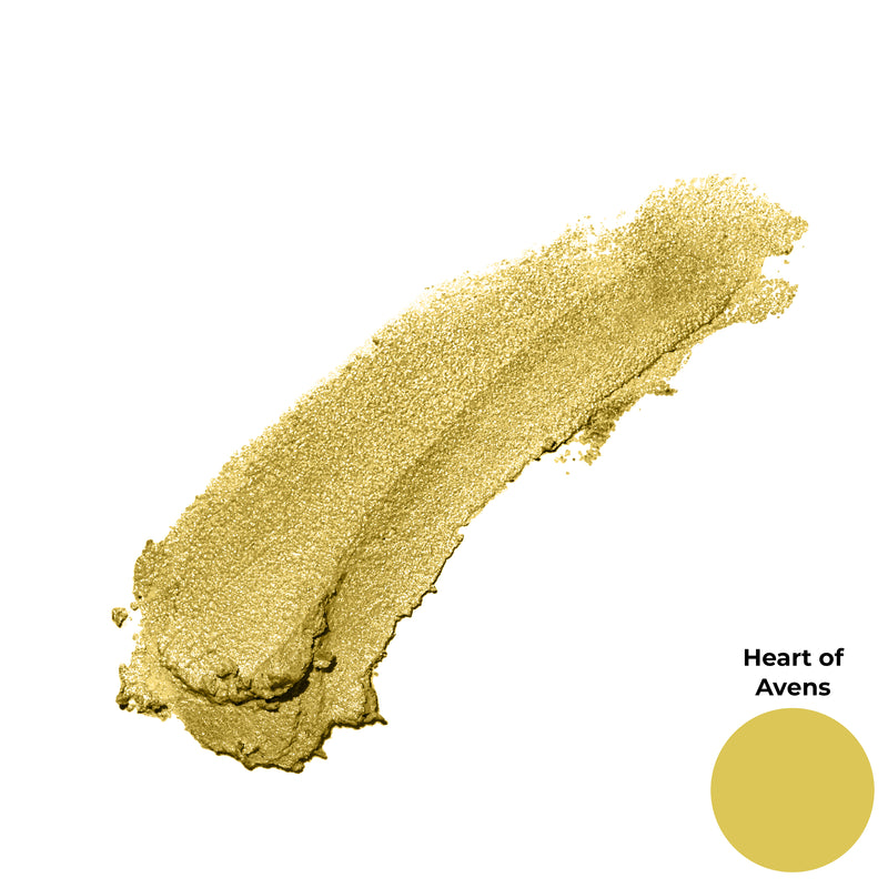 Heart of Avens Golden Yellow Shimmer Finish Cruelty Free Clean Beauty Gel Eyeshadow