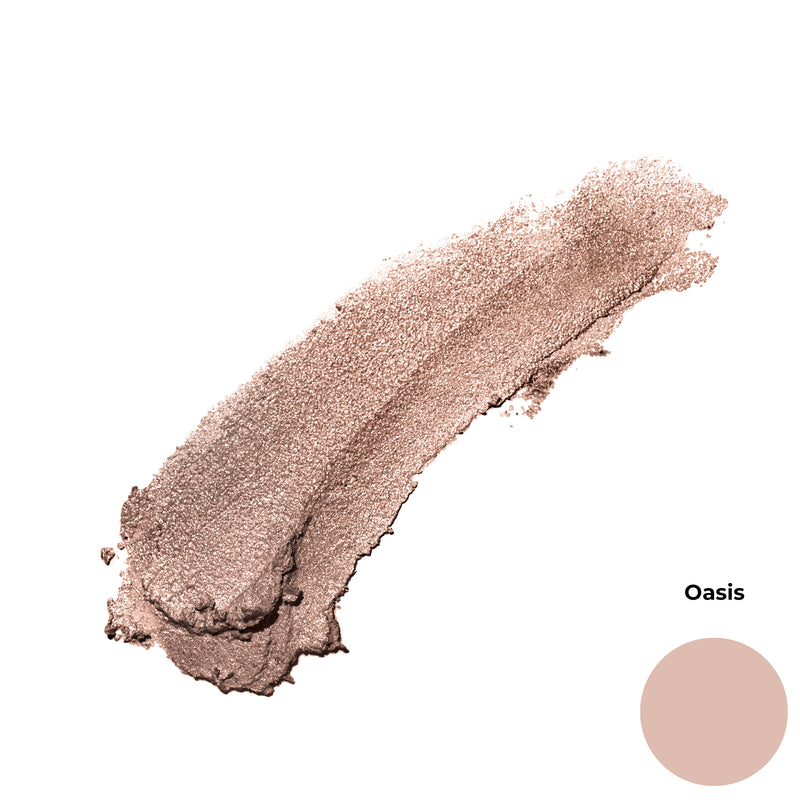 Oasis Peach Pink Shimmer Finish Highlighter Cruelty Free Clean Beauty Gel Eyeshadow
