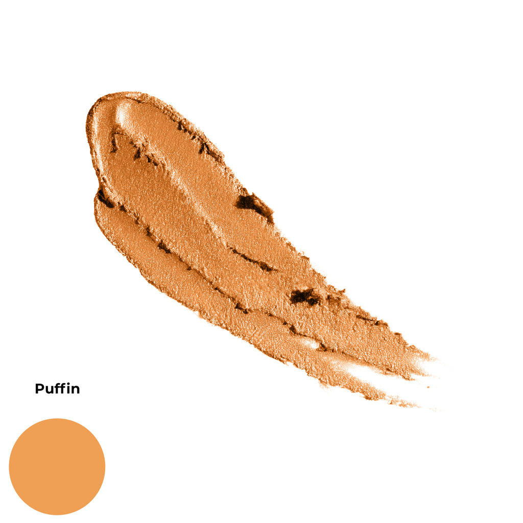 Puffin Golden Bright Orange Matte Finish Cruelty Free Clean Beauty Gel Eyeshadow