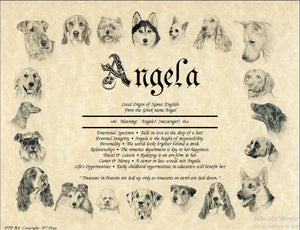 Dogs | KreADiv Gifts | Personalized First Name Meaning Artwork Gift