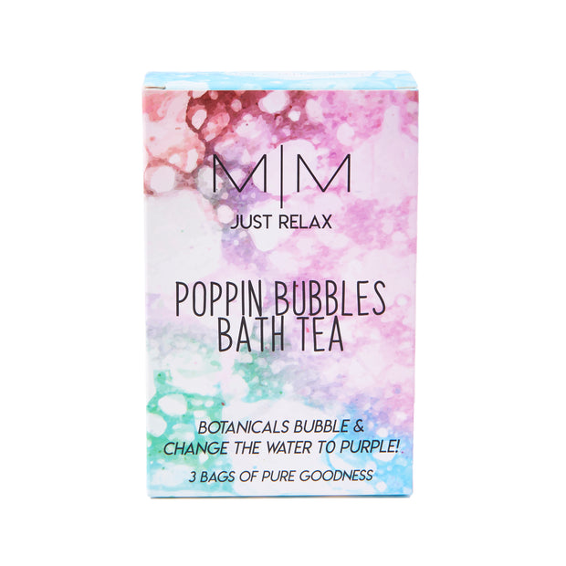 Purple Bubble Bath Tea with Sea Salts, Herbs, & Essential Oils - Special Relaxation Formula - JUST RELAX