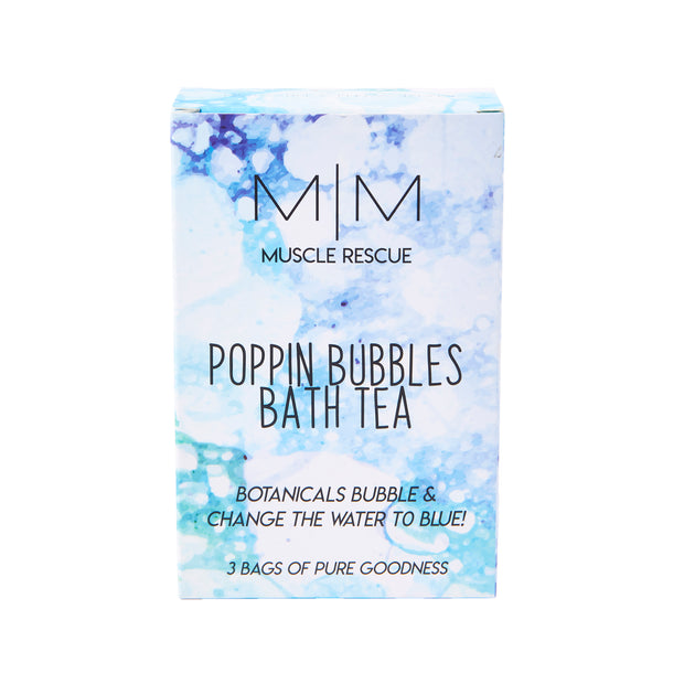 Muscle Rescue Blue Bubble Bath Tea with Sea Salts, Herbs, & Essential Oils - Special Muscle Rescue Formula