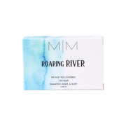 Roaring River 3 in 1 Soap Bar (Shampoo, Shave, Body) Made with All-Natural Essential Oils & Herbs