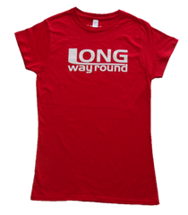 Long Way Round Red Ladies Logo T-Shirt