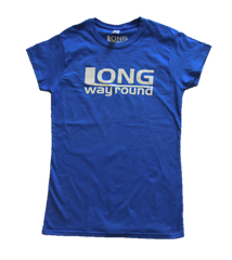 Long Way Round Blue Ladies Logo T-Shirt