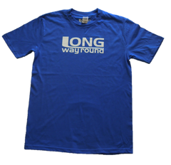 Long Way Round Men's Blue Logo T-Shirt