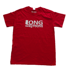 Long Way Round Men's Red Logo T-Shirt