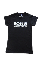 Long Way Round black Ladies Logo T-Shirt