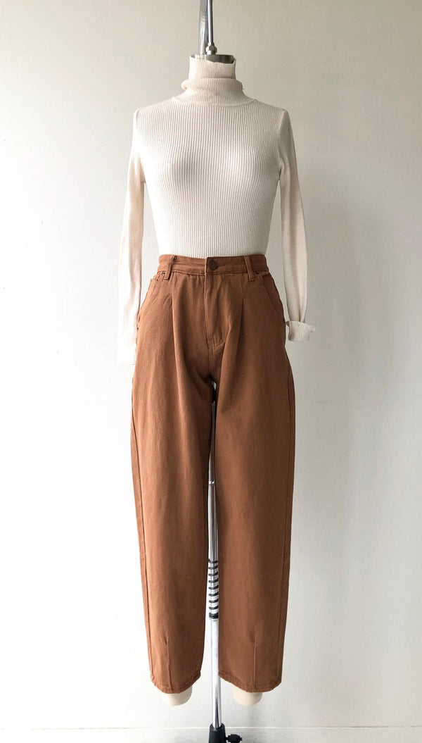Copper Clay Denim Trousers
