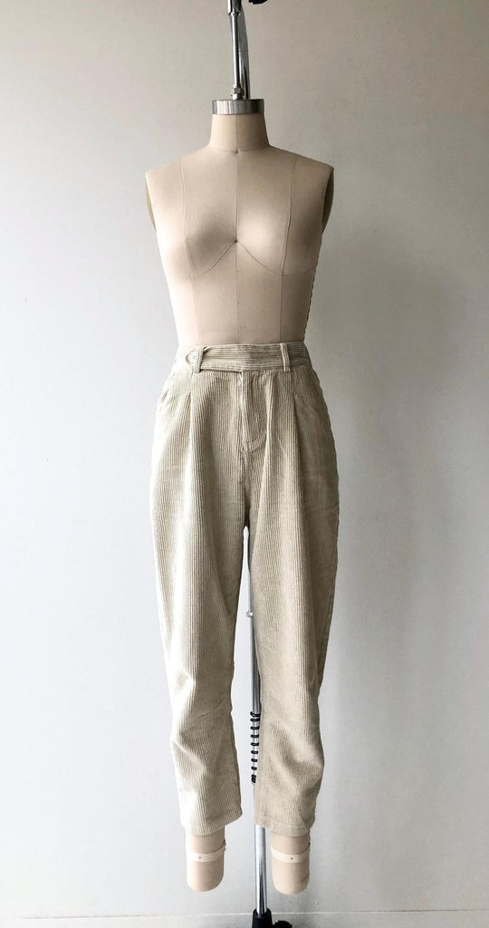 Wide Wale Corduroy Trousers | Bone