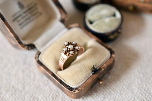 Antique Victorian 15K Gold and Pearl ring