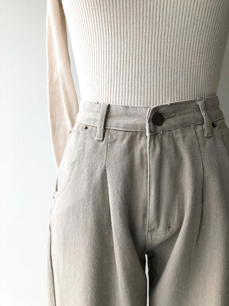 Oyster Denim Trouser
