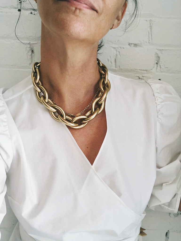 Jenny Bird 'Sloane' 14K Gold Dipped Necklace