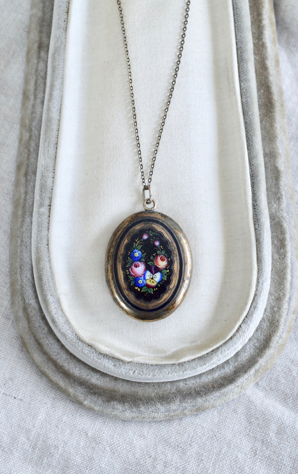 Hand Painted Victorian Locket