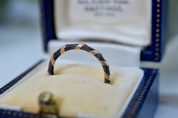 Victorian 9K Elephant Hair Ring