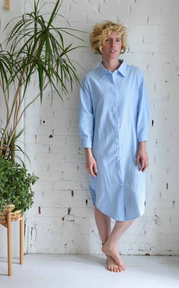 Tamsin Cotton Gauze Dress | Sky