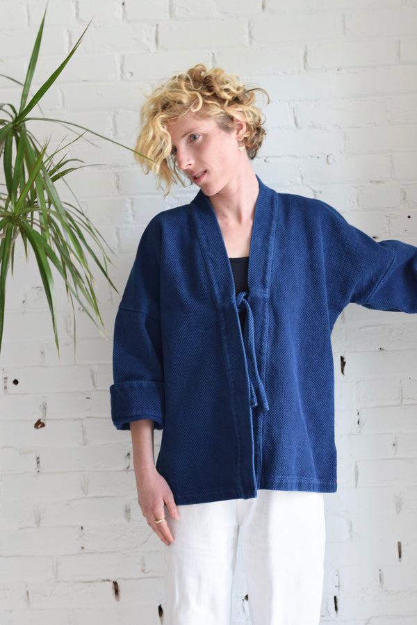 Indigo-dyed Cotton Haori Jacket