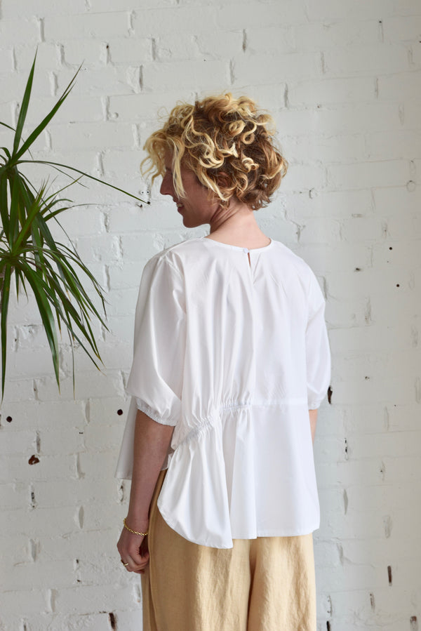 Sarti Cotton Poplin Blouse | Salt